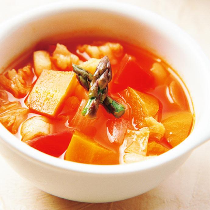 クレイジーソルトのレシピ トマトスープ